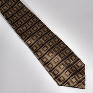 Avanzini Silk Italian Tie Gold Black Geometric